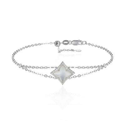 14k White Gold Ladies Bracelet B01409