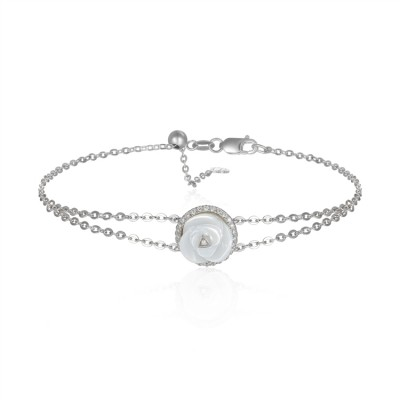 14k White Gold Ladies Bracelet B01411