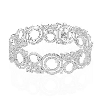 14k White Gold Ladies Bracelet B01413