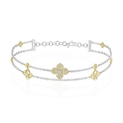 Two-Tone Ladies Bracelet B01427
