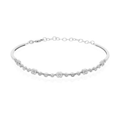 14k White Gold Ladies Bracelet B01442