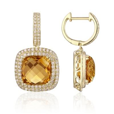 14k Yellow Gold Ladies Earring E01426