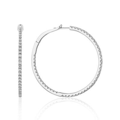 14k White Gold Ladies Earring  E01589