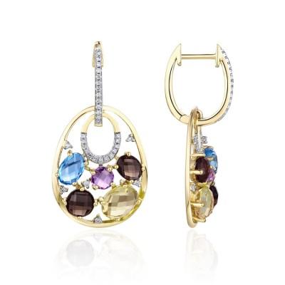 14k Yellow Gold Ladies Earring E01620