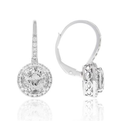 14K White Gold Ladies Earring E02311
