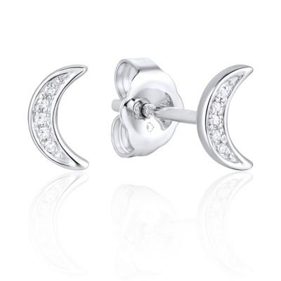 14k White Gold Ladies Earring E03843