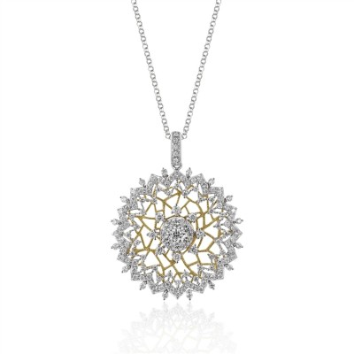 Two-Tone Ladies Necklace N01936