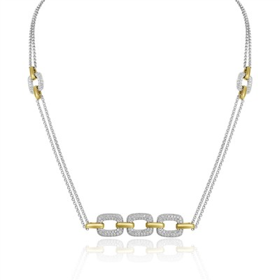 Two-Tone Ladies Necklace N01953