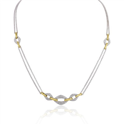 Two-Tone Ladies Necklace N01955