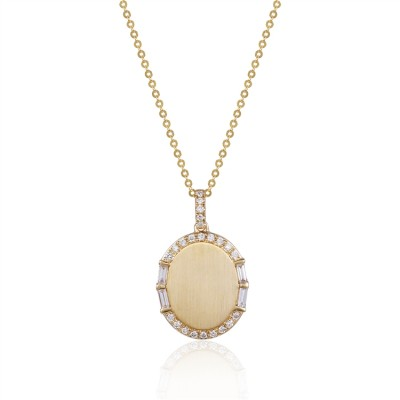 14K Yellow Gold Ladies Necklace N02558