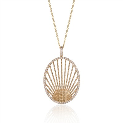 14K Yellow Gold Ladies Necklace N02572