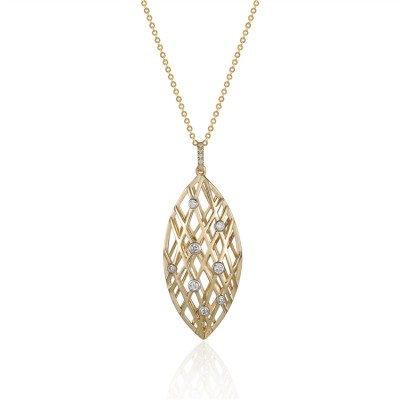 14K Yellow Gold Ladies Necklace N02603