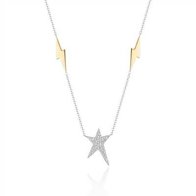 Two-Tone Ladies Necklace N02836
