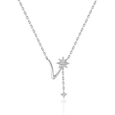 14K White Gold Ladies Necklace N03202