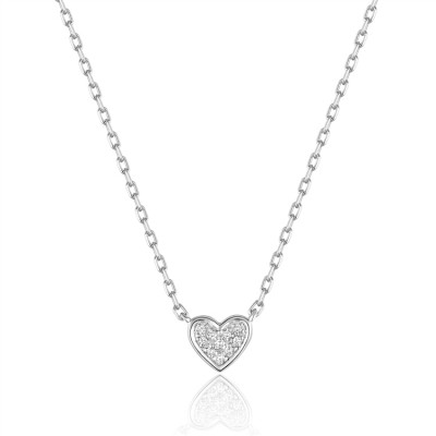 14K White Gold Ladies Necklace N03208