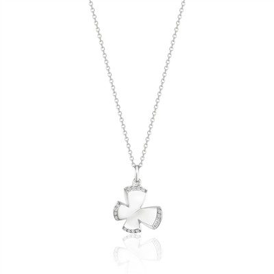 14K White Gold Ladies Necklace N03372