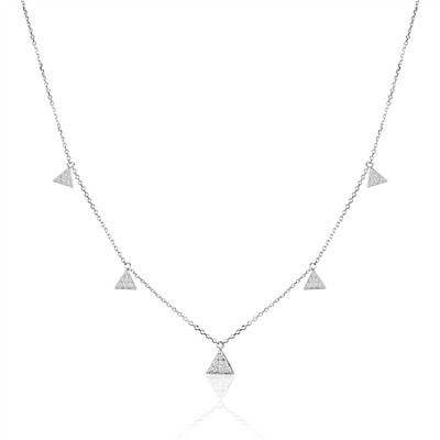 14K White Gold Ladies Necklace N03380