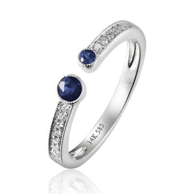 14K White Gold Ladies Fashion Ring R02248