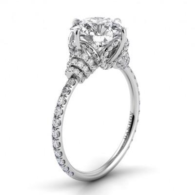 Diamond Wrap Single Shank Engagement Ring