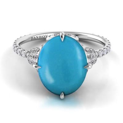 Turquoise Diamond Ring
