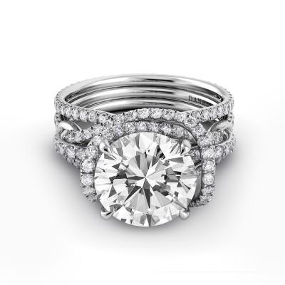 Triple Shank Elegant Engagement Ring